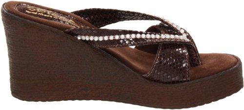 Sbicca Horizon Snake Femmes Synthétique Sandales Compensés brown
