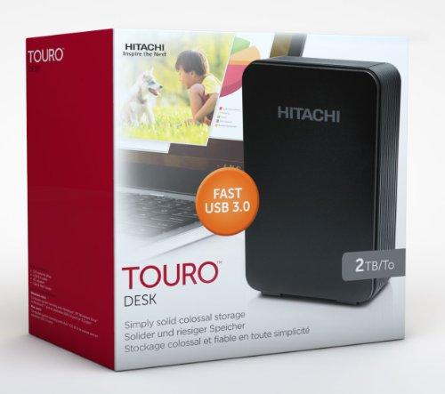 Hitachi Touro Desk DX3 2TB externe Festplatte (8,9 cm (3,5 Zoll), 7200rpm, 9ms, 32MB Cache, USB 3.0) schwarz