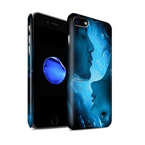 Officiel Elena Dudina Coque / Clipser Matte Etui pour Apple iPhone 7 / Pack 7pcs Design / Art Amour Collection Diamants congelés