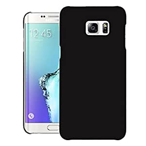Real Shopping Rubberised Matte Hard Case Back Case Cover For Samsung Galaxy S6 edge plus - Black