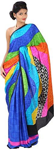 Pragati Sarees Crepe Saree (Ps-59_Multi Color)