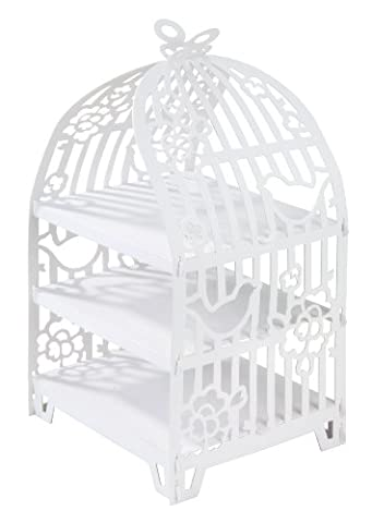 Talking Tables Something In The Air Birdcage Cakestand for a Wedding or Tea Party, White