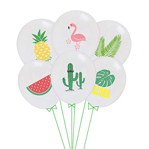Hawaii Luftballons Set Ananas Latex Luftballons für Hawaii Luau Party Geburtstag Hochzeit Thema Party Dekorationen 30 STÜCKE