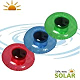 LuxForm Inflatable Solar Lights Assorted Set Pink Green Blue Solar Pool Lights Inflatable (Set of 3)