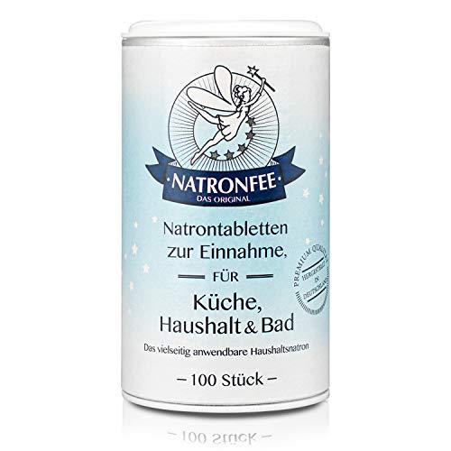 Natrontabletten der Natronfee - Kleine Natron Tabs in Lebensmittelqualität. Natriumhydrogencarbonat. Natriumbicarbonat. Baking Soda.