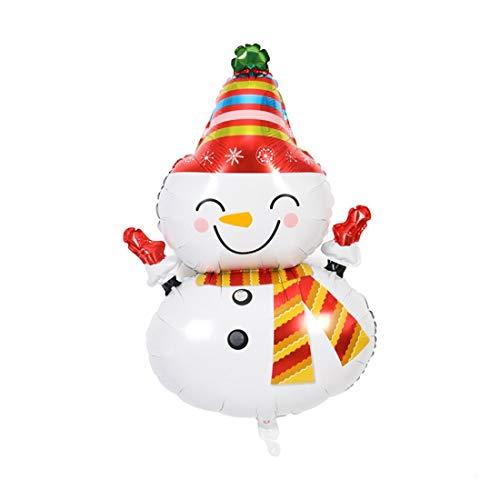 ZSQQSCL 5 Pcs Weihnachten Dekoration Ballon Cute Cartoon Weihnachten Schneemann Santa Claus Form Party Dekoration Aluminium Ballon, Schneemann