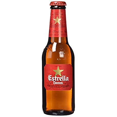 Estrella Damm Cerveza Paquete de 6 x 250 ml Total 1500 ml