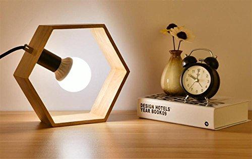 Xmas LED E27 Square/triangle/hexagone forme éco-friendly moderne mode minimaliste créatif classique lampe de table, chambre à coucher, salle à manger Decor Bureau lumière, décoration du Festival , C