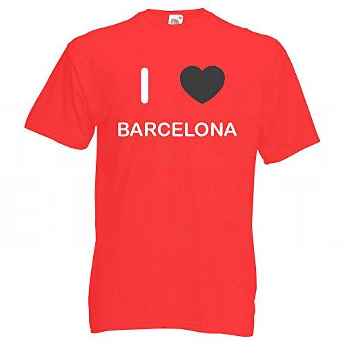 I Love Barcelona - T Shirt Rot