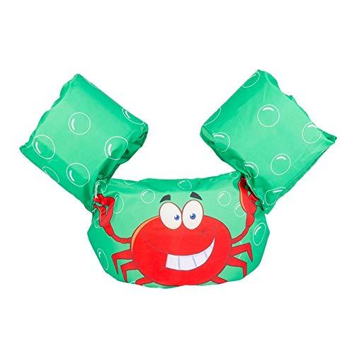Ruiuzi Ruizi Schwimmarmbänder Schwimmweste Schwimmweste Schwimmweste Zubehör für Kinder zum Schwimmen Lernen (Green Crab)