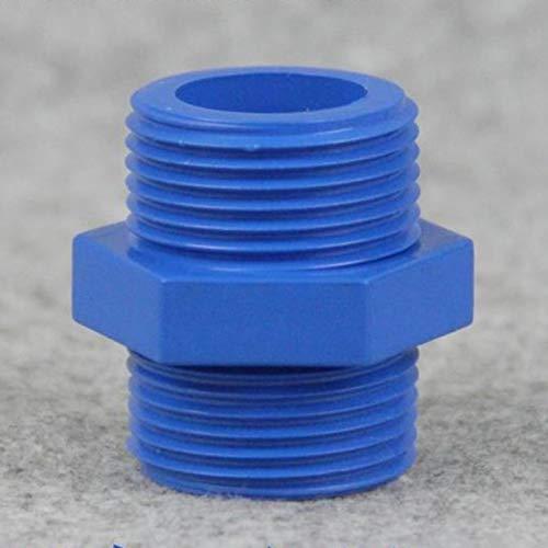 Bureze 10 Stück 1/2 Zoll Außengewinde Steckverbinder Mode Blau Durable PVC Material Landwirtschaftsbewässerung Hauswasserrohrverbinder