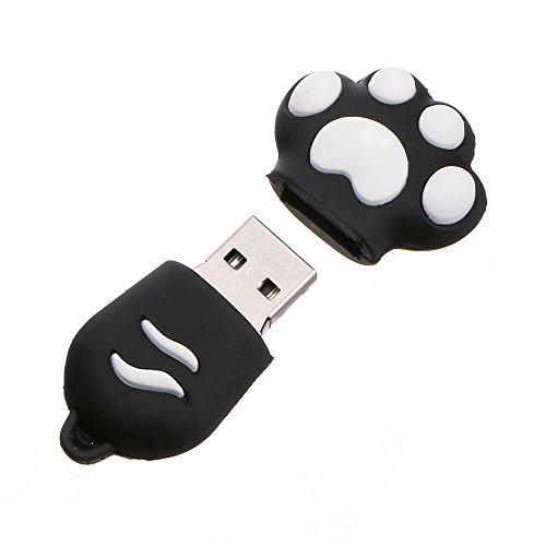 MuSheng USB Sticks, USB 2.0 4/8/16/32/64GB USB Flash Laufwerk Speicher Disk Digital Schwarz Katze Klaue Form USB Sticks (8GB, Schwarz) Form Ipod