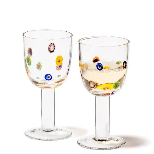 Leonardo 86428 Millefiori Set de 2 Verres Vin Blanc