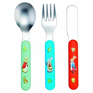 Pierre Lapin Set de 3 Couverts Multicolore