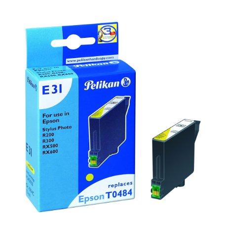 Pelikan 343918 – Cartucho de tinta Epson Stylus Photo R300, R200, 500, 600 – T0484 – Amarillo