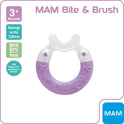 MAM 66807423 - Bite & Brush, Beißring für Mädchen