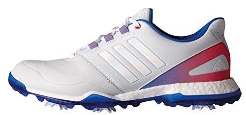 adidas Damen Adipower Boost Golfschuhe, Mehrfarbig (Gris / Azul / Rosa), 39 1/3
