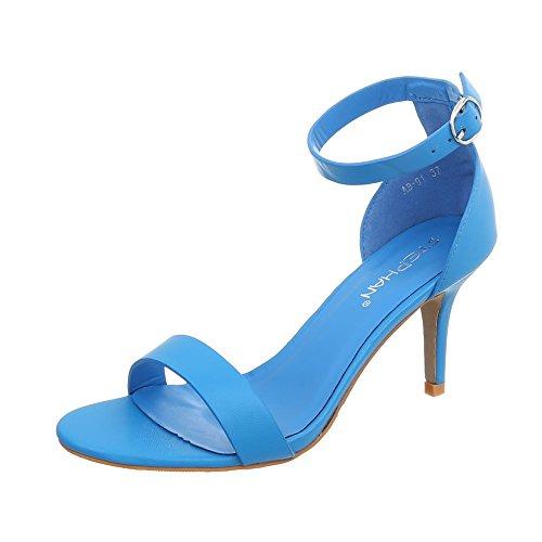 Calzature & Accessori blu con tacco stiletto per donna