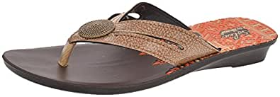 Paragon Women's Brown PU Flats (8)