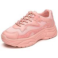 LIANGXIE Zapatillas Deportivas Corrientes Ligeras Y Transpirables para Mujer Zapatillas De Moda Zapatillas para Caminar Zapatos con Suela Interior Gruesa (Color : Rosado, tamaño : 37)