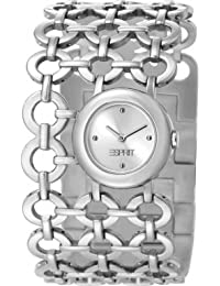 Esprit Etiquette Women's Quartz Watch with Silver Dial Analogue Display and Silver Stainless Steel Bracelet ES105872001