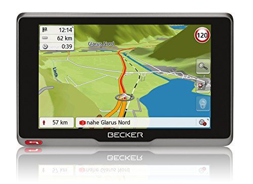 Becker active.7sl EU Navigationsgerät (17,8 cm (7 Zoll) kapazitives Echtglasdisplay, 46 Länder, lebenslange Kartenupdates, TMC, Becker Connect)