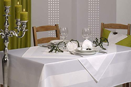 Atlaskante Festliche Anlässe Empfänge Banketts Geschäftsessen Hochzeit Satinstoff Geschenk Idee ca. 130 x 160 cm Weiß ()