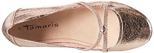 Tamaris Damen 22110 Geschlossene Ballerinas Pink (LT.ROSE CRACK 516)