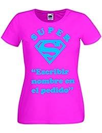 """Parent: Camisetas divertidas super """"nombre'' - para mujer camiseta"""