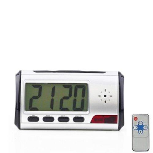 Orologio Sveglia Spia o Spy con Telecamera Nascosta, registra video e audio senza essere notati. Microtelecamera con telecomando e Motion Detector.