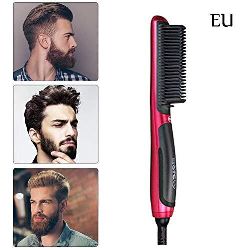 Surenhap - Cepillo alisador de pelo para hombre, portátil, alisador de pelo rápido con pantalla LCD