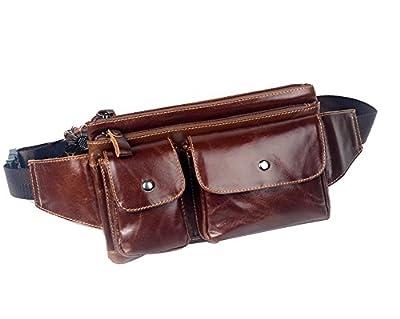 Genda 2Archer Cuir sac banane bonne sécurité taille sac de voyage pour hommes et femmes