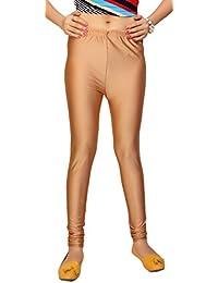 Comix Women Cotton Lycra Fabric Comfort Fit Ankle Length Plain Leggings (Skin,XXXL)