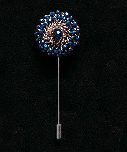 ZWLZQ Broschen Brosche Perlen Floral Men Anstecknadeln Crystal Fashion Men Für Anzüge Handmade Strass Pins Zubehör