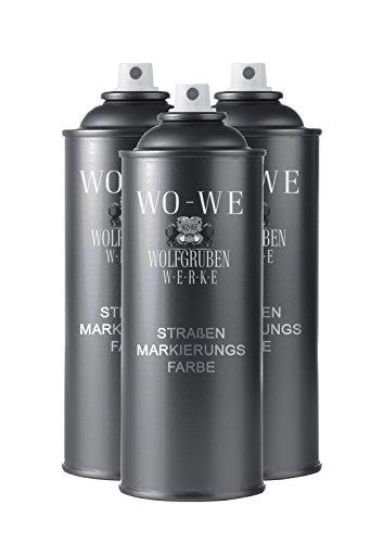 Preisvergleich Produktbild 10, 83€ / L - 3x400 Strassenmarkierungsspray Spraydose - wie RAL1023 Verkehrsgelb