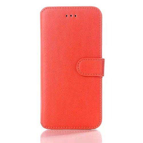 """iPhone Case Cover nouveau style coréen en cuir couleur portefeuille """"cas avec stand / carte couverture pour iphone 6 6 ( Color : Blue , Size : IPhone 6 6s ) Orange"""