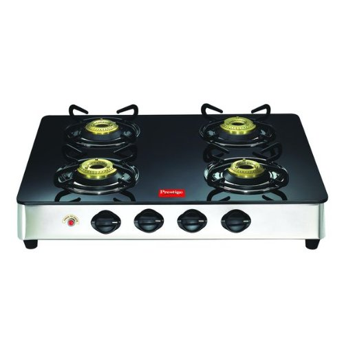 Prestige GT 04 SS Auto Ignition Glass Top Gas Stove