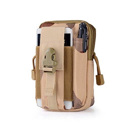 joygood 15,2cm Outdoor Wasserdicht Kompaktes Mehrzweck-Tactical MOLLE EDC Utility Gadget Tasche Tools Taille Tasche Pack - SanSha camouflage