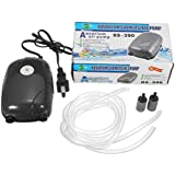 SLB Works Aquarium Fish Tank Air Pump ACO-9601 3.2L/min For Fish Tank Super Silent 5w +line Tubing+ Air Stone