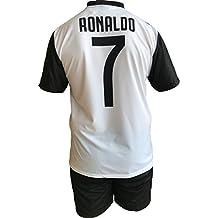 Conjunto Equipacion Camiseta Pantalones Futbol Juventus Cristiano Ronaldo 7  CR7 Replica Oficial Autorizado 2018-2019 b8088d8f2e83e