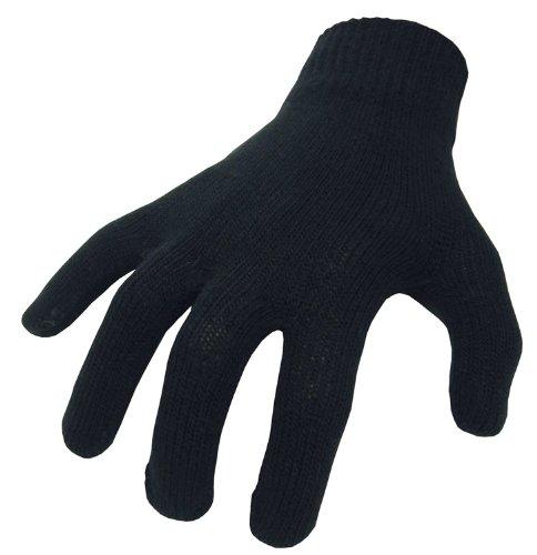 Winddicht / Wasserdicht Thermo-Fleece Innenhandschuhe schwarz - Größe L