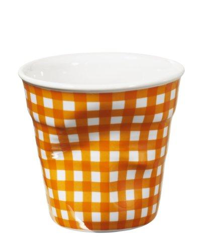 REVOL Gobelet Tasse Froissé 8 Cl Blanc Vichy Orange