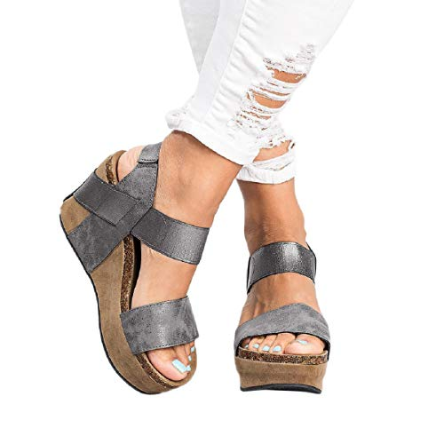 Sandalias Mujer Verano 2019 Zapatos con Puntera Abierta, con Banda Elástica Transpirable, Sandalias...