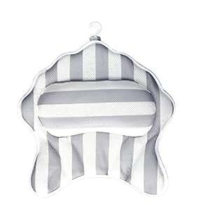 Strandkorb Spa-Kissen Tuevob Badewannenkissen Nacken R/ückenst/ütze mit 6 Saugn/äpfen und tragbarem Haken f/ür das Badezimmer zu Hause Kopf Whirlpool-Badewanne Pool-Spa