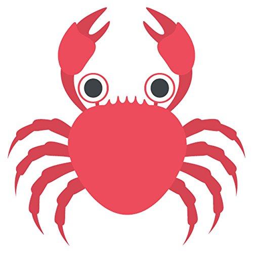 granchio gli Emoji Cartello in metallo / Crab Emoji Metal Sign