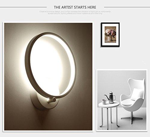 Lightess-Lampada-da-Parete-Elegante-a-LED-12W-Stile-Moderno-Applique-da-Parete-Interni-per-Decorazione-Soggiorno-Camera-da-Letto-Scale-Corridoio-Bianco-Caldo