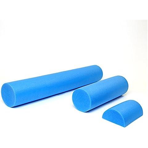 Roller Pilates Polietilene Espanso Azzurro Densità 30kg al m3MADE IN ITALY Resingomm . Rullo per esercizi Pilates (15x45)