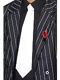 Luxuspiraten - Kostüm Accessoires Zubehör Gangster Schlips Krawatte mit Gummiband im 20er Jahre Al Capone Stil, perfekt für Karneval, Fasching und Fastnacht, Weiß