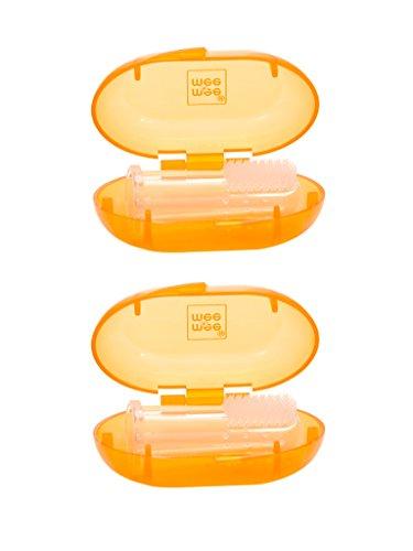 Mee Mee Unique Finger Brush (Pack of 2, Orange)