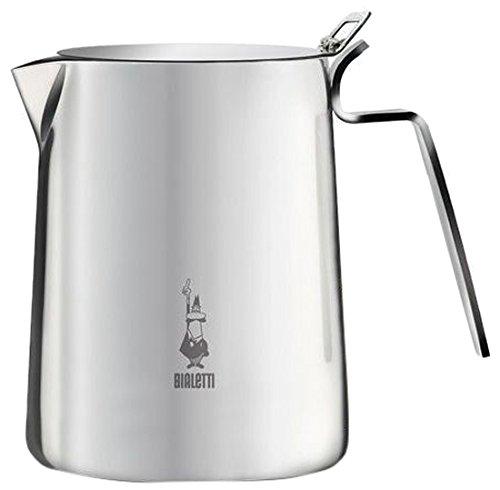 Bialetti 1811 Milk Pitcher 75 cl (+ Coperchio), Bollilatte, Acciaio, Inossidabile, Silver